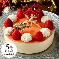 クリスマスケーキ ミルキーフレーズ・ノエル(5号:15cm)約4〜6名様分【冷凍便】【いちごとミルクのケーキ】【送料込】