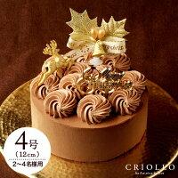 クリスマスケーキ ショコラバリ ノエル(4号:12cm)【冷凍便】【チョコレートケーキ】【送料込】【アプリ限定備考欄記入でメッセージカード】