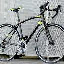 ロードバイク 自転車 アルミ 軽量 700C シマノ14段変...