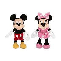 ディズニー ミッキー & ミニー ミニサイズ ぬいぐるみ 人形 23.5cm ペアセット ミッキーマウス ミニーマウス ぬいぐるみ 2点セット 輸入品