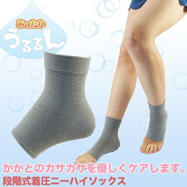【あったかうるるん かかとケアソックス】 【メール便対応】かさかさカカトに マイクロハイバー 保温 保湿 日本製 エコノレッグ靴下
