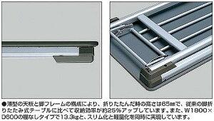 会議ミーティング用テーブルKY-140シリーズ脚折りたたみ式棚なし幅1500×奥行き600mm【KT-144】