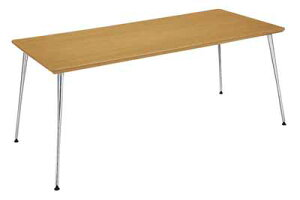 イートインシリーズテーブルリフレッシュテーブル4本脚高さ700mmタイプ天板寸法幅1200×奥行き800mm突板メッキ脚【LT-M340T72】