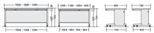事務用デスクNED型平デスクキャスター仕様幅800×奥行き800mm【NED088FC】