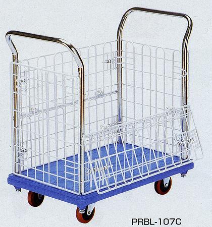 金網付樹脂台車 幅814×奥行き513mm 均等耐荷重:300kg【PRBL-207C】:エコノミーオフィス-オフィス家具