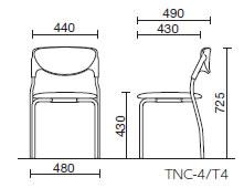 会議用チェアTNC型会議用チェア固定脚タイプ布張り塗装脚【TNC-T4】