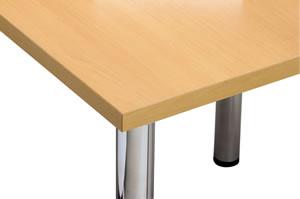 ミーティングテーブル天板エッジ:共張りアイボリー【YMT-1890-IV】
