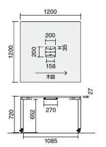ワークソートテーブルStandardDeepキャスター脚幅2400×奥行1200×高さ720mm【SD-WSC2412P81N】