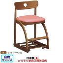 カリモク デスクチェア・学習チェア・学習椅子/ 学習チェア 幅480mm モルトブラウン色【XT1801-H】