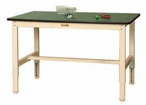 ワークテーブル300シリーズ高さ調整タイプポリエステル天板幅900×奥行き600×高さ600~900mm【YAMA-SWPA-960】