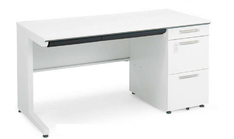 コクヨ iSデスクシステム 片袖デスク(A4) ダイヤル錠タイプ  幅1600×奥行700×高さ720mm【SD-ISN167LDCAS】:エコノミーオフィス-オフィス家具
