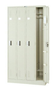 更衣ロッカー シリンダー錠タイプ 4連2号 4人用 (65766)【LK-42S】:エコノミーオフィス-オフィス家具