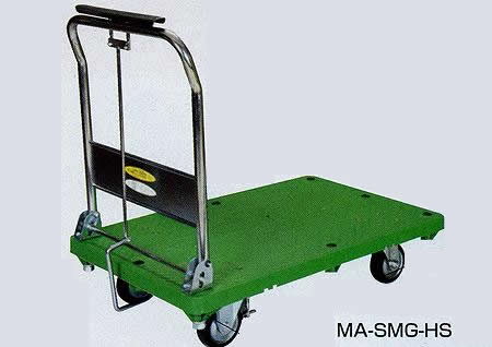 ハンドストッパー付樹脂台車 取手固定式 幅888×奥行き630×高さ893mm 均等耐荷重:300kg【MB-SMG-HS】:エコノミーオフィス-オフィス家具