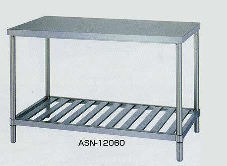 ステンレス作業台 スノコ棚 間口900×奥行き600×高さ800mm 均等耐荷重:250kg【ASN-9060】:エコノミーオフィス-オフィス家具