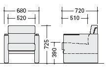 応接セットZRE140型アームチェアー【ZRE140S】