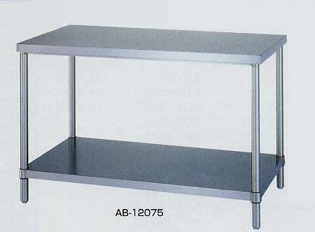 ステンレス作業台 ベタ棚タイプ 基本タイプ 間口1200×奥行き600×高さ800mm 均等耐荷重:250kg【AB-12060】:エコノミーオフィス-オフィス家具