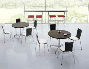 イートインシリーズテーブルリフレッシュテーブル十字脚高さ700mmタイプ天板寸法直径900mmメラミン化粧板メッキ脚【LT-M416】