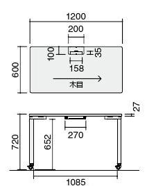 ワークソートテーブルStandard12キャスター脚幅1200×奥行600×高さ720mm【SD-WSC126P81N】