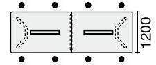 会議用テーブルWT-300シリーズ長方形天板・突板ポリッシュ脚配線付きタイプ幅3600×奥行1200mm※受注生産品【WT-PWB304】