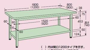W超重量作業台キャビネット付【WF-894】