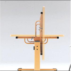 センターフラップテーブルMTSシリーズ棚無脚部ナチュラル幅1800×奥行900×高さ700mm【MTS-1890B】