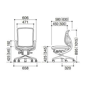 オフィスチェアyear[イエラ]メッシュタイプローバックリング肘ランバーサポート無し【SV0051-3051】