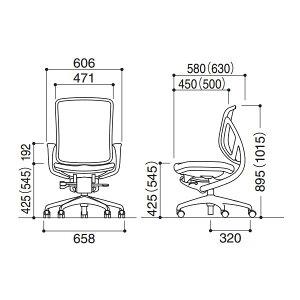 オフィスチェアyear[イエラ]クロスカバータイプローバックリング肘ランバーサポート無し【SV105X-405X】