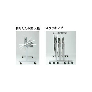 QFテーブルフォールディングタイプ幕板なし/棚なし幅1200×奥行600×高さ700mm【QF-420】