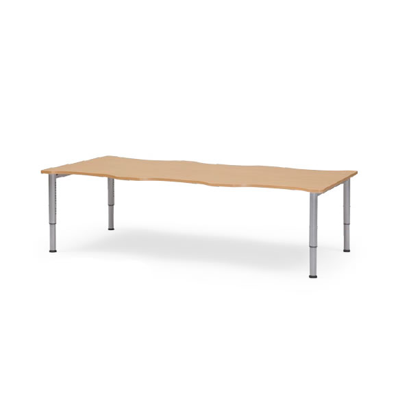 介護用テーブル NJTシリーズ 天板昇降タイプ 幅2400×奥行1200mm【NJT-2412】:エコノミーオフィス-オフィス家具