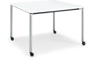 コクヨジュートミーティング用テーブル(4本脚丸脚・正方形天板)キャスター付き幅900×奥行900×高さ720mm【MT-JTMR99-C】