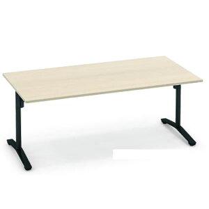 コクヨビエナVIENA配線ボックスなし角形テーブル(T字脚)ポリッシュ脚タイプ幅1800×奥行750×高さ720mm【MT-V187PM】