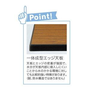 薄型折畳み会議テーブル(一体成型天板)棚無幅1800×奥行450mm【STO-1845】