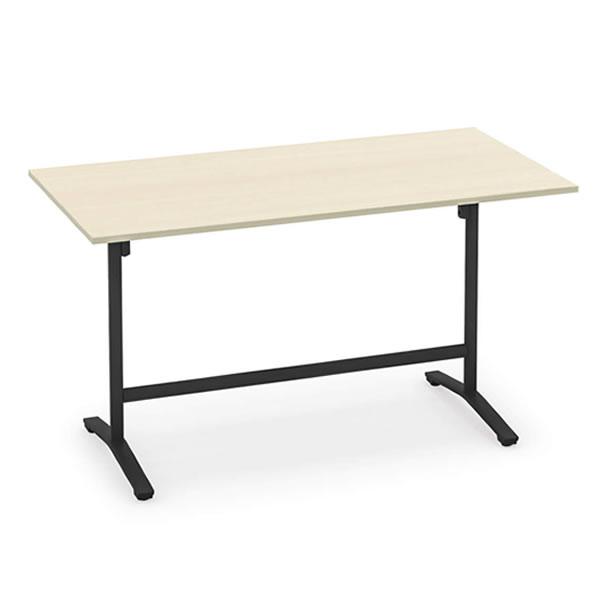 コクヨ ビエナ VIENA 配線ボックスなし 角形テーブル(T字脚) ハイタイプ ポリッシュ脚タイプ 幅1800×奥行900×高さ1000mm【MT-V189HPM】:エコノミーオフィス-オフィス家具