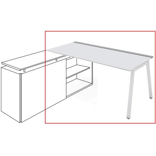 コクヨ SAIBI-TX(サイビティーエックス) テーブル部分 L側 木目天板 幅1600×奥行800mm 【収納脚別売り】【SD-TEL168V】:エコノミーオフィス-オフィス家具