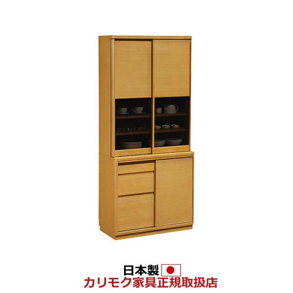 カリモク 食器棚 幅866mm 高さ1936mm【ET3410】:エコノミーオフィス-オフィス家具