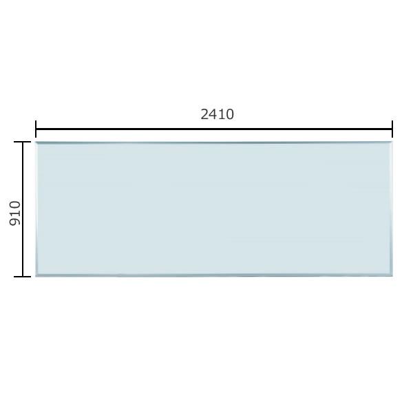 マジシリーズ 壁掛無地ホワイトボード ホーロータイプ 2410×910mm【MH38】:エコノミーオフィス-オフィス家具