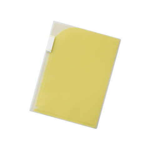 【メール便なら送料240円】リヒトラブ Avanti 2ポケットホルダー F-3410-5黄 A4 収納枚数:コピー用紙30枚
