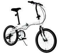 HANWAWACHSEN<ヴァクセン>20インチアルミ折りたたみ自転車6段変速付Weiβ(ヴァイス)シマノ6段変速