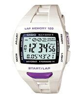 CASIO(カシオ)PHYS(フィズ)ForRunner<ランナーモデル>STW-1000-7JFホワイト&パープル国内正規品タフソーラー・電波時計「MULTIBAND6」搭載LAPMEMORY120