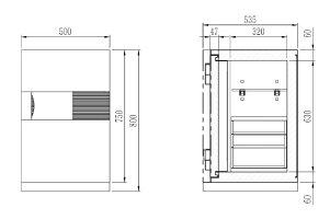 ディプロマット・ジャパン次世代型耐火金庫NEXTデジタルテンキー式耐火・防盗金庫DPS7500-BKブラックA4対応1時間耐火R3デジタルロック搭載UL防盗基準クリアモデルビルトイン・アラーム標準装備容量76.6L