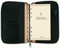 レイメイ藤井DavinciGRANDE(ダ・ヴィンチグランデ)ピッグスキン聖書サイズシステム手帳DB1402Bブラックリング15mmラウンドファスナータイプ