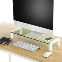 KINGJIM<キングジム>ガラス天板デスクボード白(机上台)幅550mm8501シロ