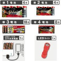 【送料込】お買い得!!マクセルmaxellアルカリ乾電池防災パック【防災用】