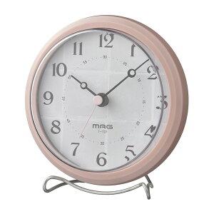 ノア精密 MAG生活防水置掛両用時計アンフィー ピンク T-737PK-Z デジタル 置時計 掛け時計 静音 コンパクト 防止 防塵 アナログ 小型