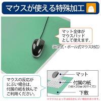 【送料無料!】プラス(PLUS)デスクマットななめカットデスクマット塩ビOAタイプ下敷付グリーンDM-126MW41-339