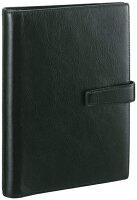 レイメイ藤井(Raymay)ダ・ヴィンチシステム手帳A5サイズブラックDSA3002Bビジネススタンダードスーパーロイスレザーリング20mmダブルホックタイプ