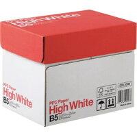 PPC用紙ハイホワイトB5500枚×5冊68g/m2白色度93%コピー用紙