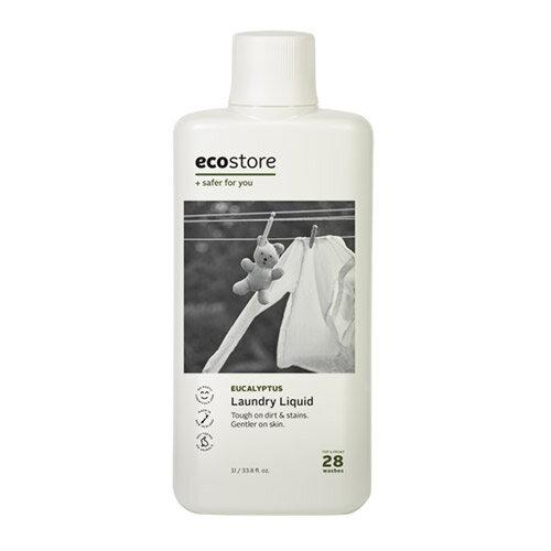 エコストア ecostore ランドリーリキッド ユーカリ 1L ナチュラル 洗剤 マスク