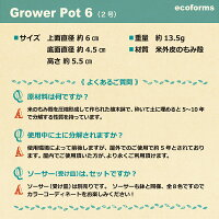 ecoforms|グロワー6AGrowerPot6A|植木鉢2号|エコフォームズ