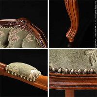 ヴェローナクラシック金華山アームチェア(1人掛け)イタリア家具ヨーロピアンアンティーク風
